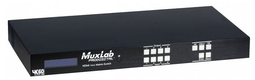MUXLAB HDMI 4X4 MATRIX SWITCH, 4K/60