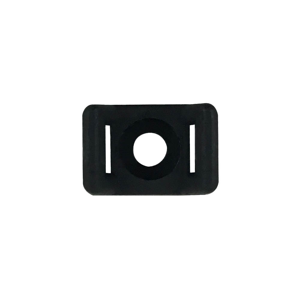 [KSHC1BK] CABLE TIE WALL-MOUNT ANCHOR SCREW TYPE BLACK (100/BAG)