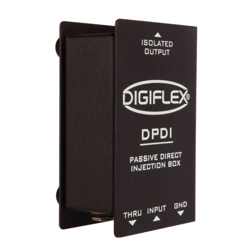 "DIGIFLEX SINGLE CHANNEL DIRECT BOX WITH 1/4"" IN & THROUGH"