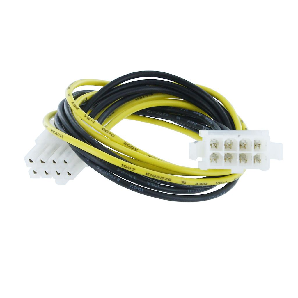 "P4 8-PIN (2X4-PIN) M/F 12"" POWER EXTENSION CABLE"