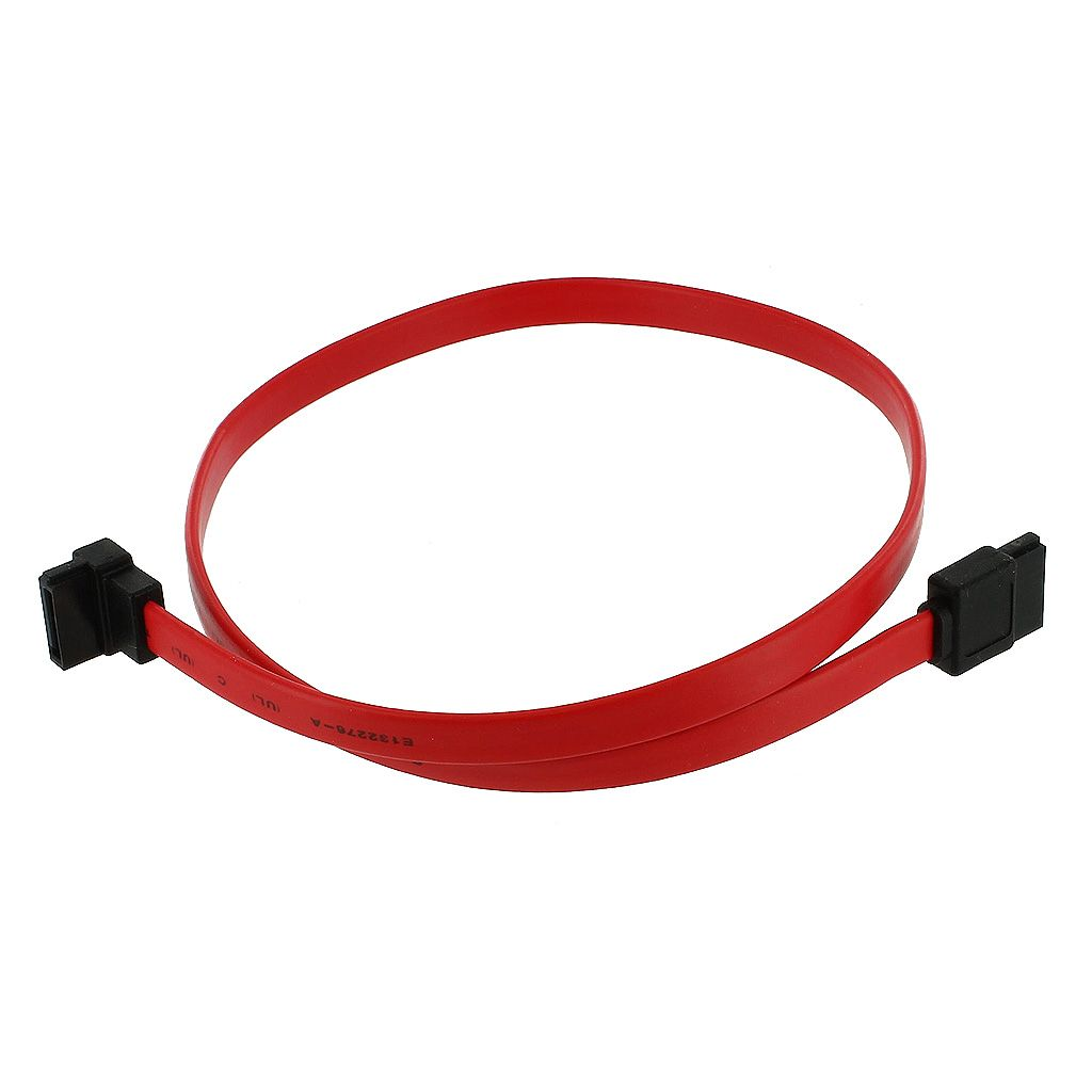 "SATA 18"" CABLE W/SINGLE RIGHT ANGLE END"
