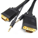 [PS004S] SVGA (HD15) M/M WITH 3.5MM AUDIO VIDEO CABLE (FT4/CMG) (3')
