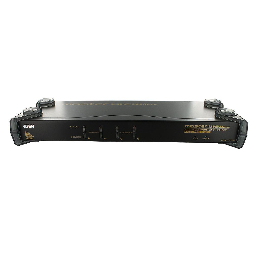 ATEN 4-PORT 1U USB-PS/2 VGA KVM SWITCH