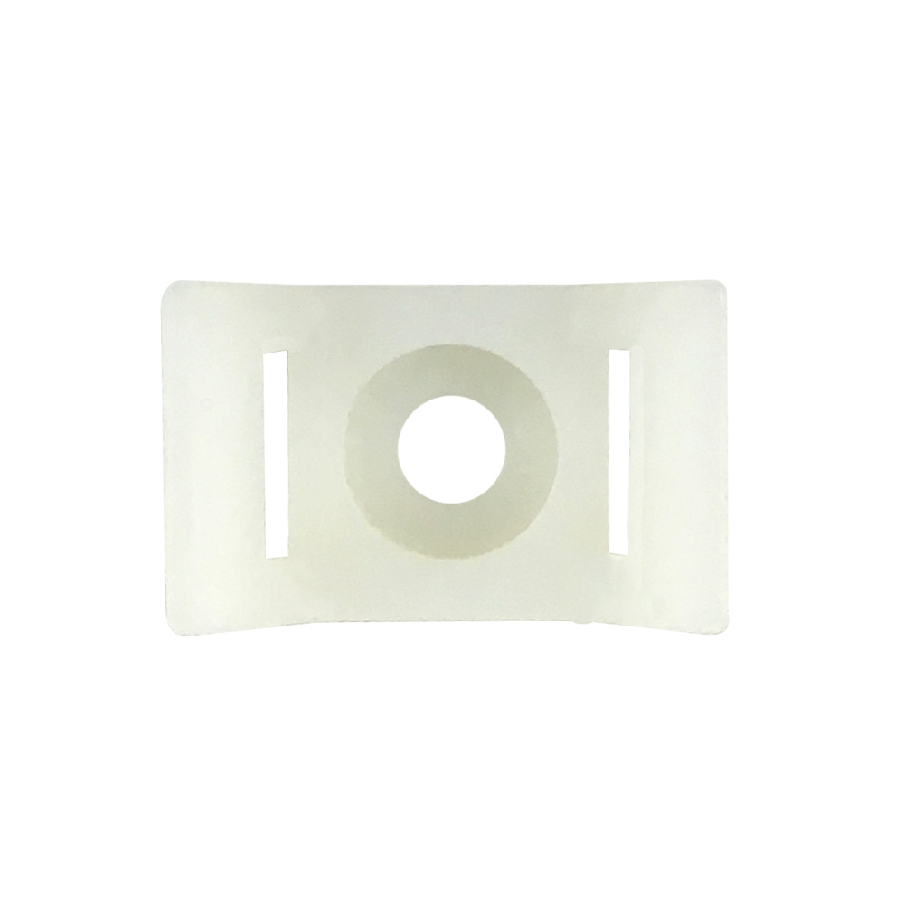 CABLE TIE WALL-MOUNT ANCHOR SCREW TYPE WHITE (100/BAG)