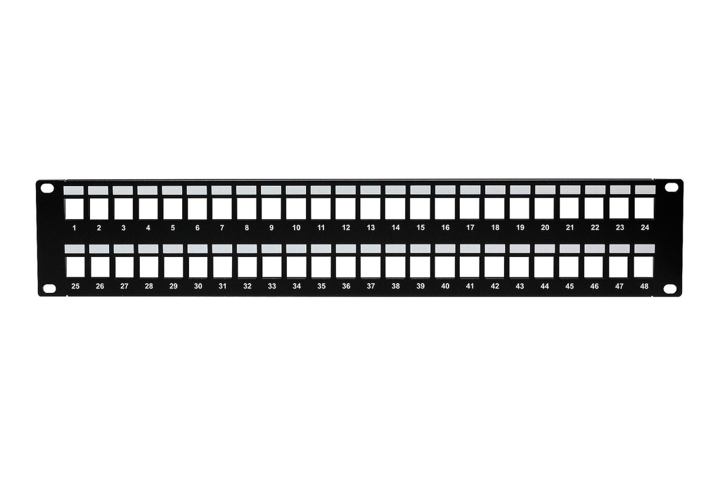 48-PORT UNLOADED KEYSTONE PATCH PANEL