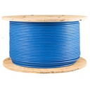 [PW6A4B] CAT6A 1000' BLUE SOLID SHIELDED F/UTP  PLENUM NETWORK BULK CABLE (FT6/CMP)