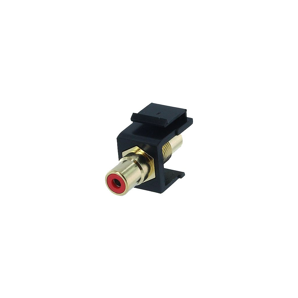 RCA RED F/F COUPLER KEYSTONE JACK - BLACK