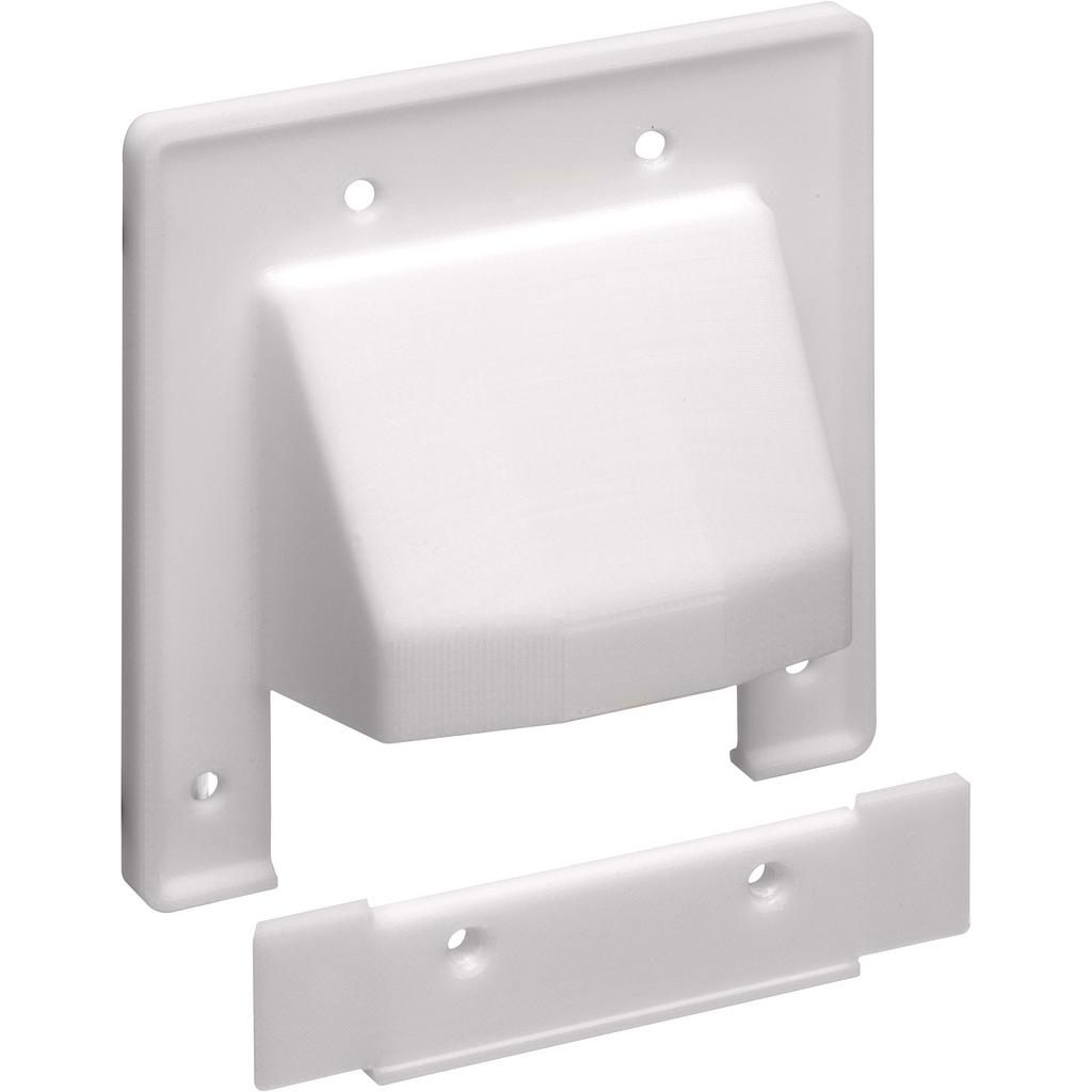 ARLINGTON 2-GANG REVERSIBLE TWO-PIECE LOW VOLTAGE WALL PLATE - WHITE