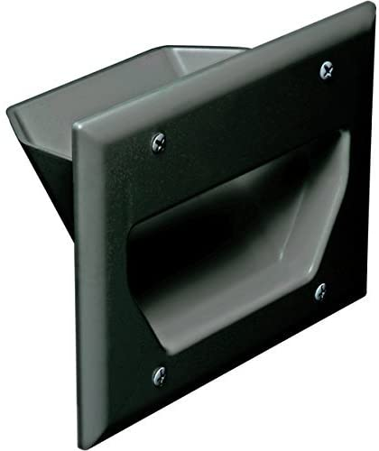 [WP3GBK] DATACOMM 3-GANG RECESSED WALL PLATE - BLACK