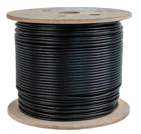 CAT6A 1000' BLACK SOLID F/UTP OUTDOOR DIRECT-BURIAL NETWORK BULK CABLE