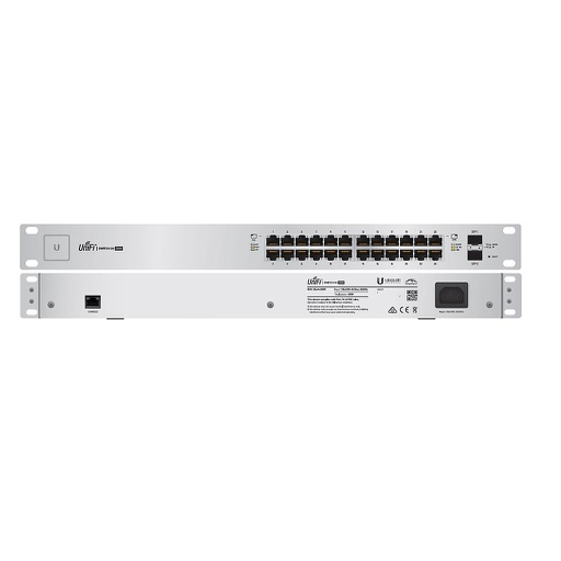 [UBUS24250] UBIQUITI UNIFI 24-PORT/2 SFP POE+ SWITCH (250W)