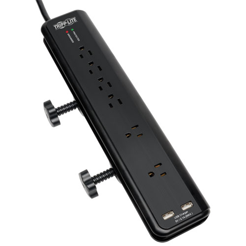 [TR606DMU] TRIPP LITE 6-OUTLET DESK CLAMP MOUNT POWER STRIP