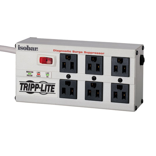 [TRISB6U] TRIPP LITE 6-OUTLET 'ISOBAR' SURGE PROTECTOR (METAL HOUSING)