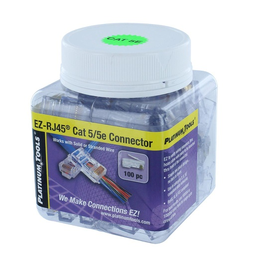 [EZC5E100] EZ-RJ45 CAT5E CONNECTORS (100/JAR)
