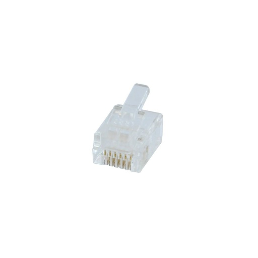 [PN447] RJ12 6P6C FLAT-STYLE PHONE CONNECTOR (50/BAG)