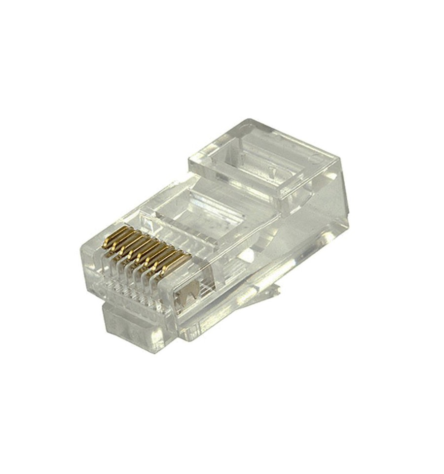 [PN452] RJ45 CAT5E UTP SOLID/STRANDED CONNECTOR (50/BAG)
