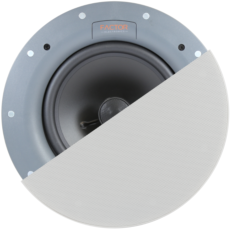 "[FEE675TLX] FACTOR 6.5"" IN-CEILING TRIMLESS 10W (W/70V TRANS.) SPEAKERS - WHITE (PAIR)"