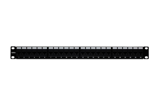 [C64524] RJ45 CAT6 24-PORT LOADED PATCH PANEL (110 TYPE)