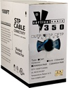 [PW504B] CAT5E 1000' BLUE SOLID F/UTP PLENUM SHIELDED NETWORK BULK CABLE (FT6/CMP)