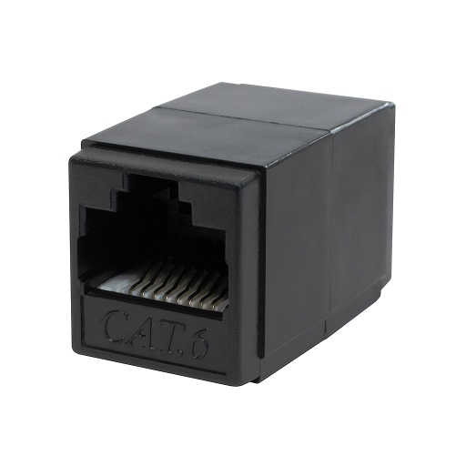[C6665] RJ45 CAT6 F/F BLACK COUPLER
