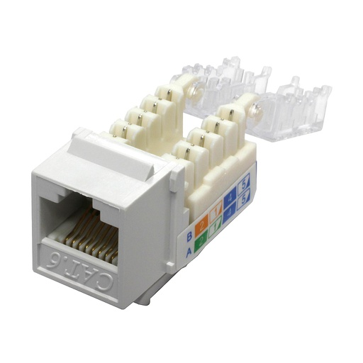 [C669WT] RJ45 CAT6 SLIM WHITE KEYSTONE JACK (TOOL-LESS)