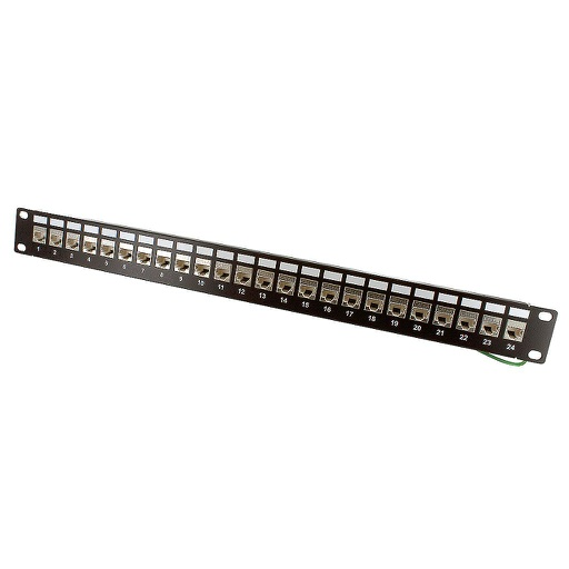 [C6A4524S] RJ45 CAT6A SHIELDED 24-PORT PATCH PANEL (110 & KRONE)