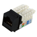[C6A69BK] RJ45 CAT6A SLIM BLACK KEYSTONE JACK (TOOL-LESS)