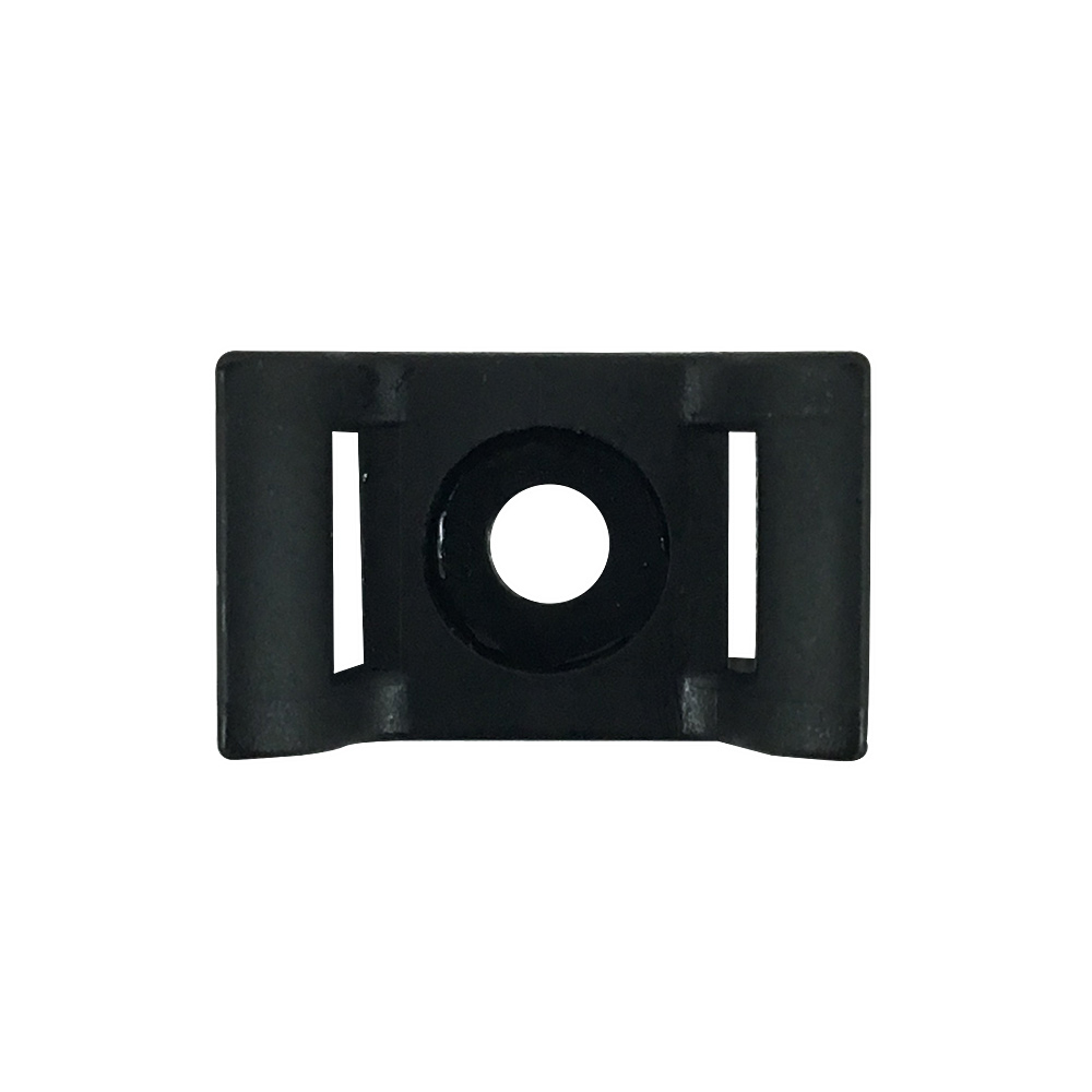 [KSHC2BK] CABLE TIE WALL-MOUNT ANCHOR SCREW TYPE BLACK (100/BAG)