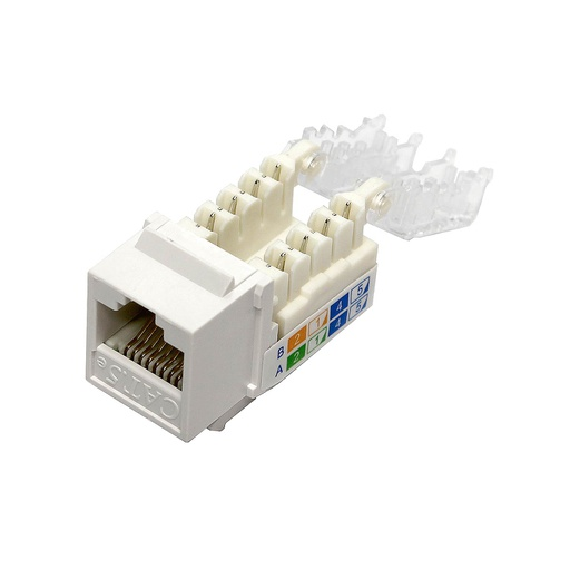 [SJ69WT] RJ45 CAT5E SLIM WHITE KEYSTONE JACK (TOOL-LESS)