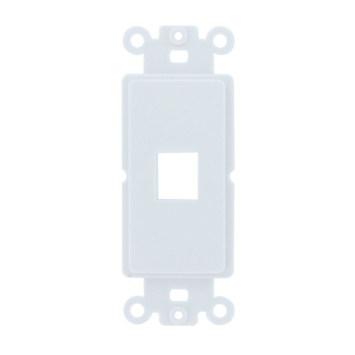 [SJ801] 1-PORT DECORA STRAP KEYSTONE INSERT - WHITE