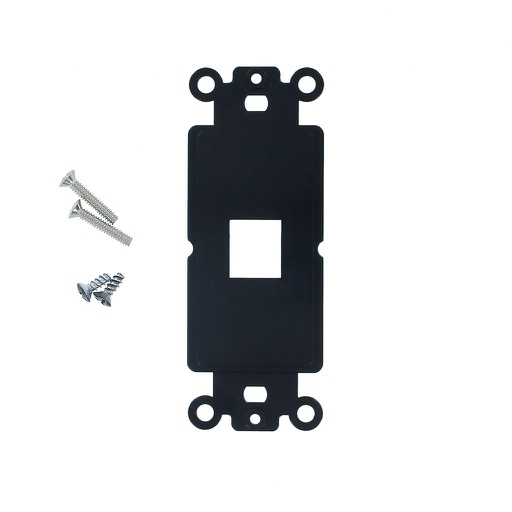 [SJ801BK] 1-PORT DECORA STRAP KEYSTONE INSERT - BLACK