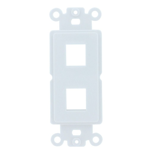 [SJ802] 2-PORT DECORA STRAP KEYSTONE INSERT - WHITE