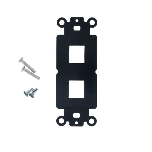 [SJ802BK] 2-PORT DECORA STRAP KEYSTONE INSERT - BLACK
