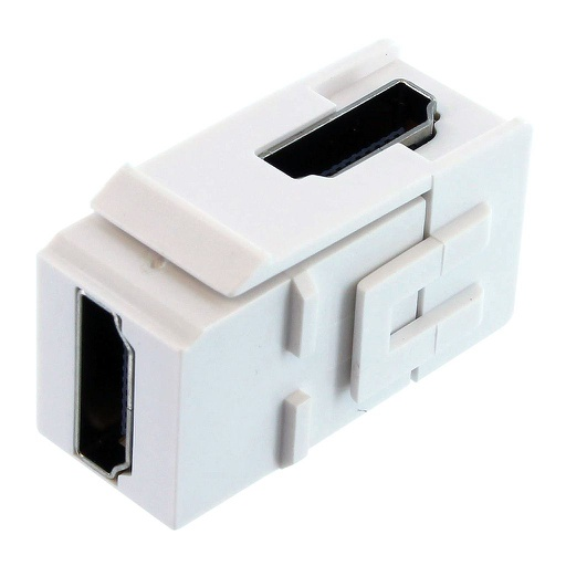 [SJHDMIR] HDMI F/F RIGHT ANGLE COUPLER KEYSTONE JACK - WHITE