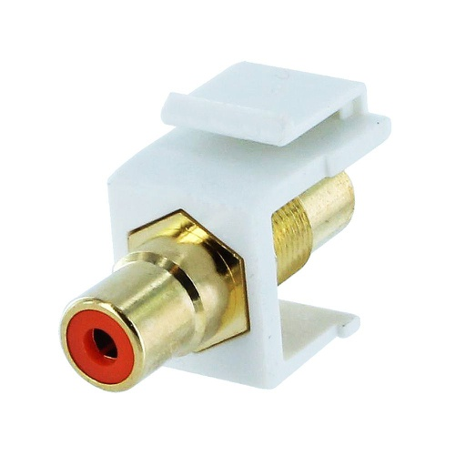 [SJRCAO] RCA ORANGE F/F COUPLER KEYSTONE JACK - WHITE