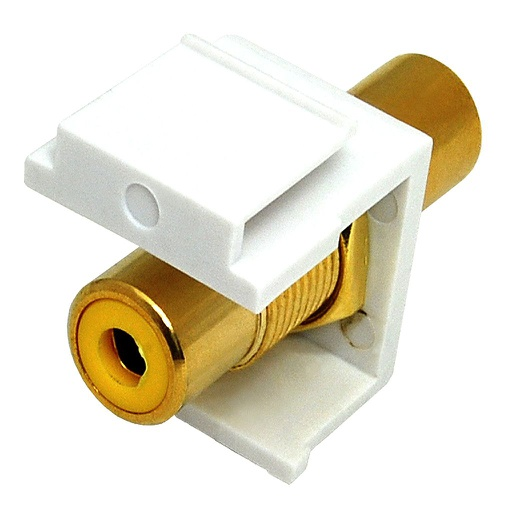 [SJRCAY] RCA YELLOW F/F COUPLER KEYSTONE JACK - WHITE