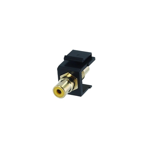 [SJRCAYBK] RCA YELLOW F/F COUPLER KEYSTONE JACK - BLACK