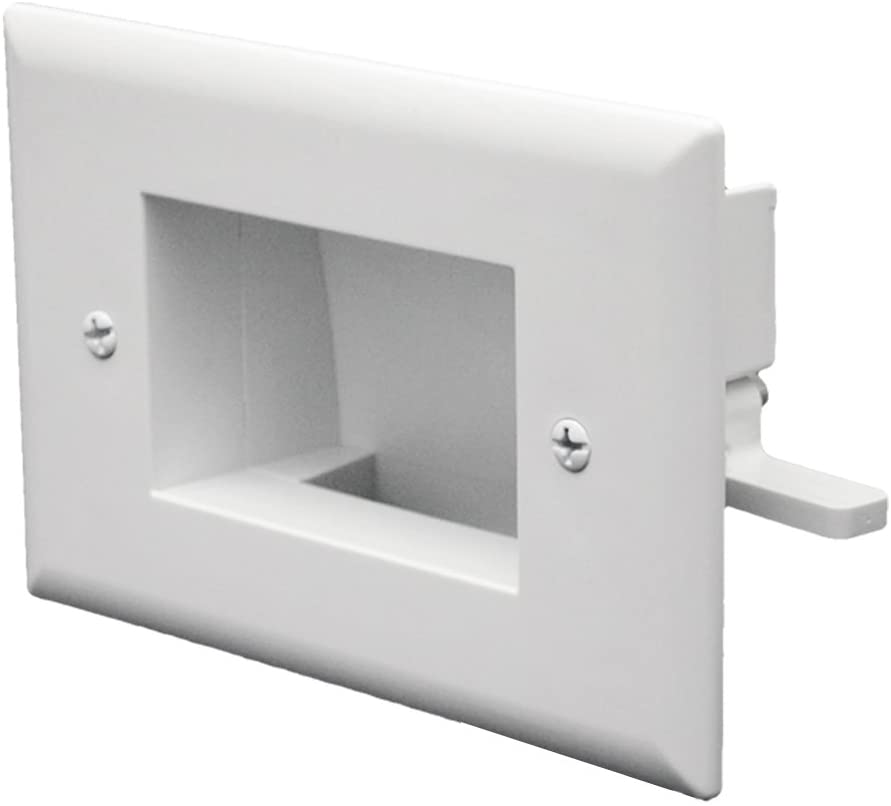 [WP1GEM] DATACOMM 1-GANG 'EASY-MOUNT' RECESSED LOW VOLTAGE WALL PLATE