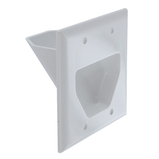 [WP2G] DATACOMM 2-GANG RECESSED WALL PLATE - WHITE
