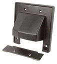 [WP2GRBK] ARLINGTON 2-GANG REVERSIBLE TWO-PIECE LOW VOLTAGE WALL PLATE - BLACK
