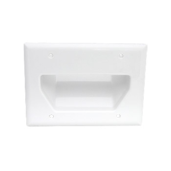 [WP3G] DATACOMM 3-GANG RECESSED WALL PLATE - WHITE