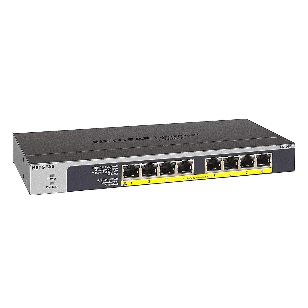 [NGGS108LP] NETGEAR 8 PORT GIGABIT UNMANAGED POE+ SWITCH (60W)