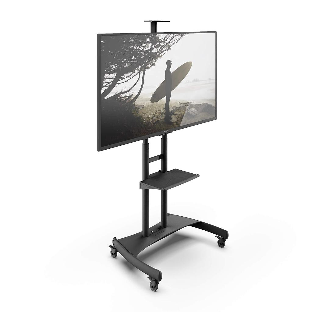 "[KAMTM82PL] KANTO STEEL MOBILE TV CART 50-82"" W/ TRAY & TOP SHELF"
