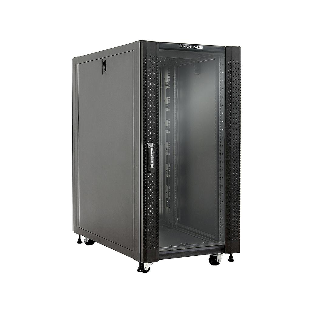 [MFGCAB22U] MAINFRAME 22U CLOSED CABINET W/GLASS FRONT & STEEL MESH REAR DOORS