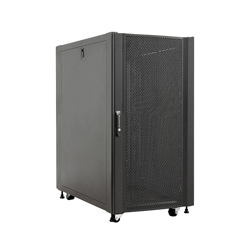 [MFSCAB22U] MAINFRAME 22U CLOSED CABINET W/STEEL MESH FRONT & REAR DOORS