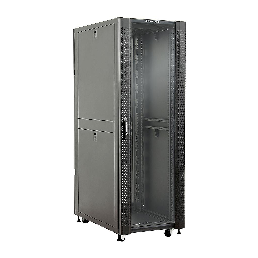 [MFGCAB32U] MAINFRAME 32U CLOSED CABINET W/GLASS FRONT & STEEL MESH REAR DOORS
