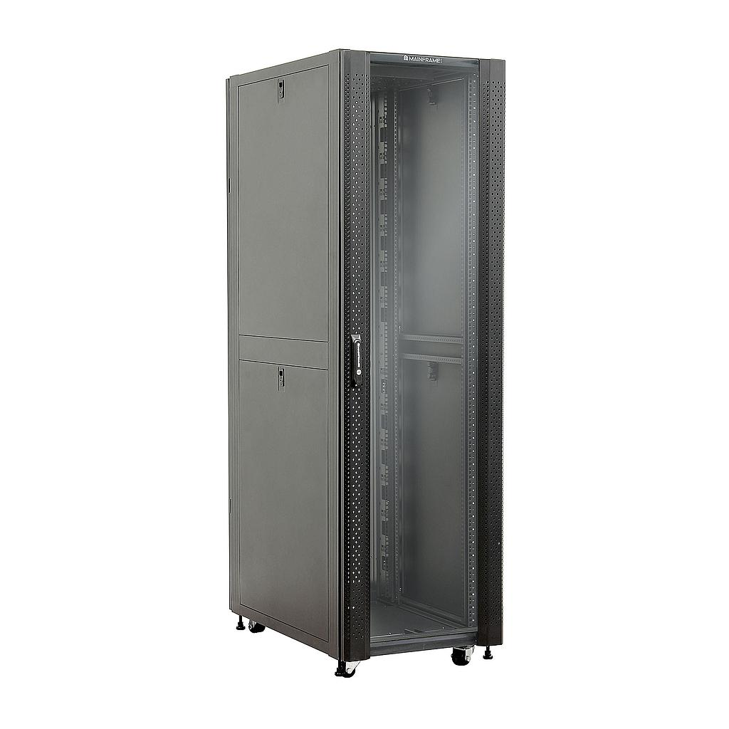 [MFGCAB42U] MAINFRAME 42U CLOSED CABINET W/GLASS FRONT & STEEL MESH REAR DOORS