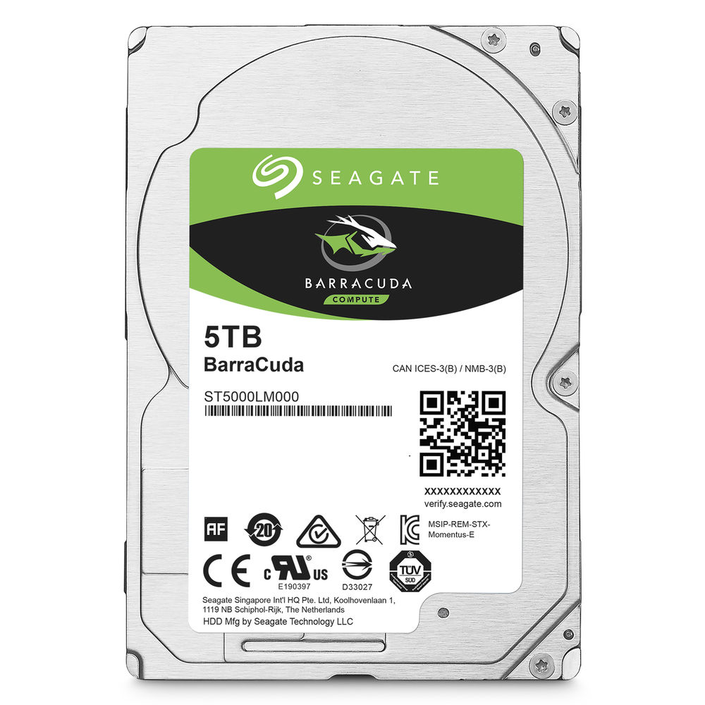 "[ST5000LM000] SEAGATE 2.5"" 5TB 5400 RPM 128 MB CACHE HDD"