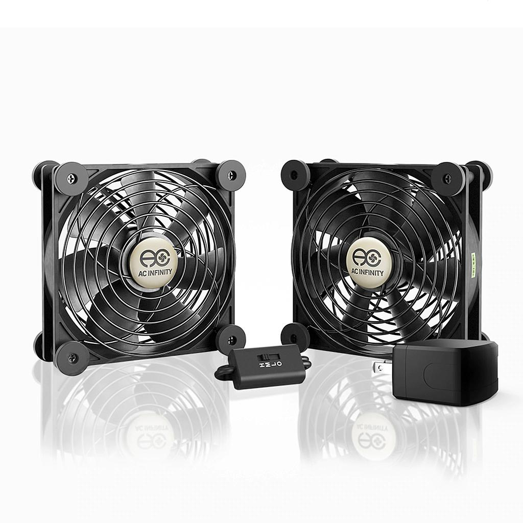 [AIMPF120P2] AC Infinity AC POWERED 120MM DUAL FAN /W SPEED CONTROL