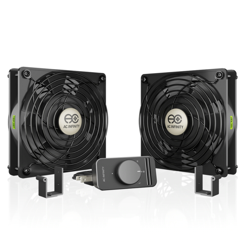 [AI120SCXD] AC Infinity DUAL 120x120x25mm FAN KIT /W SPEED CONT